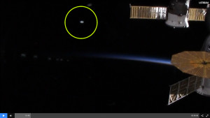 Ufó tűnt fel az ISS űrállomás élő közvetítésén?
