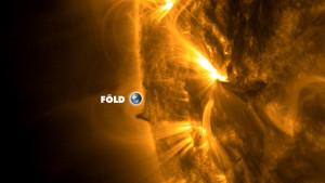 Föld méretű kitüremkedést észleltek a Nap felszínén!