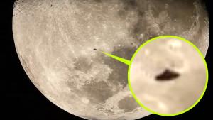 Klasszikus UFO forma repült be egy csillagász Hold-videójába…