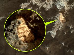 Megkövesedett tengeri kagyló a Marson, vagy valami más?