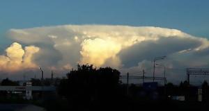 Gombafelhő jelent meg egy orosz nagyváros felett