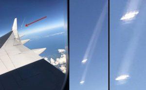 A Föld légkörébe lépő UFO-kat fotóztak egy repülőről