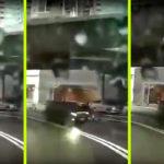A forgalmas autóút közepére érkezett a peches időutazó