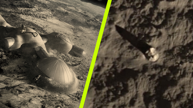 Földönkívüliek háborúja: UFO-roncsok hevernek a Hold sötét oldalán