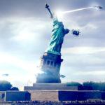 Ilyet eddig csak a filmekben láttunk: UFO a New York-i Szabaság-szobor felett