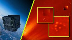 Napiktörés világított meg egy rejtőzködő földönkívüli anyahajót