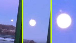 Különös UFO-észlelés: A holdkorongból szállt elő a fénylő objektum…