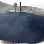 Rejtélyes fekete kráter jelent meg egy mexikói autóút mellett