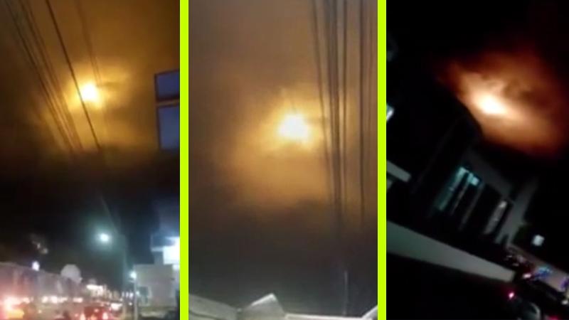 Földönkívüli-pánik tört ki a hátborzongató éjszakai fények miatt…