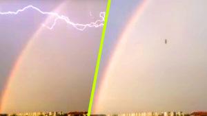 Leállt egy UFO a viharban, pont a kamera előtt zuhant le…