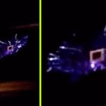 Energianyalábok futkostak egy álcázott UFO felületén, így simán levideózták!