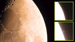 A Földről videózták, ahogy egy titokzatos tárgy lebeg a Hold felszíne felett…