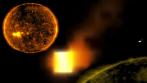 NASA fotók: Ismét felbukkant a földméretű űrkocka a Nap közelében