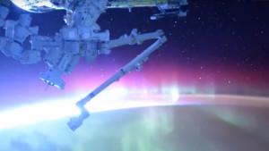 Videóra vették a teljes sarki fényt az űrállomásról