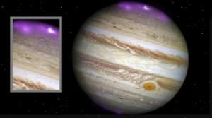 Káprázatos sarki fény tündökölt a Jupiteren