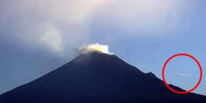 Ufót filmeztek a mexikói vulkánkitörés közben
