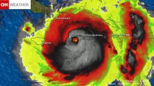 Halálfejre hasonlított a Matthew hurrikán műholdas radarképe