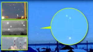 UFO-flotta húzott át egy ukrán falu felett