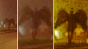 Hátborzongató árnyalakot fotóztak: Angyal, vagy démon?