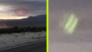 Furcsán ragyogó zöld fény lebegett a rejtélyes 51-es körzet felett…