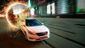 Mindenki szeme láttára teleportált egy autó a forgalmas úton