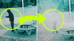 Kiszivárgott egy furcsa videó: Időutazó vált köddé egy térfigyelő kamera előtt…