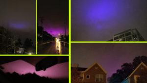 Rejtélyes dolgok zajlanak a légkörben: lila fények világítanak éjszaka a felhők felett