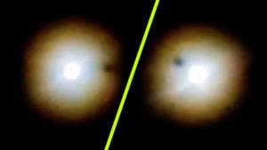 Egy amatőr csillagász kiszúrta: hatalmas sötét tárgy vonult át a telihold előtt