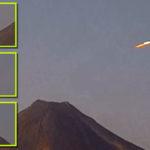 Ragyogó fényű UFO-t fedeztek fel a mexikói vulkán élő webkameráján