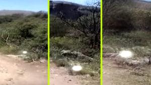 Döbbenetes videó egy kocsit üldöző fénygömbről