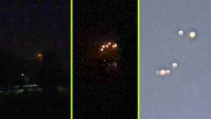 Furcsa fényeket észleltek a Balaton északi partja felett