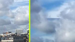 A pillanat, amikor egy UFO megpróbál egy felhőben elrejtőzni… Persze, hogy levideózták!