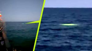Zölden izzó UFO-t szúrtak ki a floridai öböl vizében
